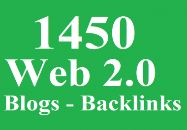 1450 WEB 2.0 Blogs Backlinks DA 80+ - Blast your ranking