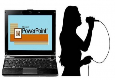 Convert any power-point presentation in MP4 video up-to 7 min