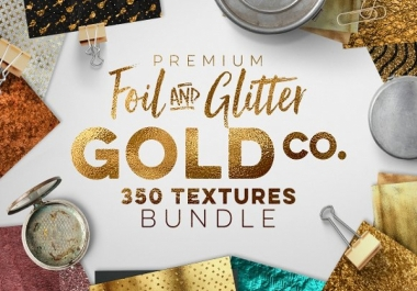 give you 350 Gold & Metallic Textures Bundle