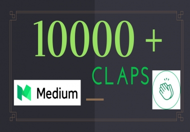 500+ Medium claps on your Article | Medium Upvotes