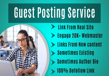 PREMIUM GUEST POSTING SERVICE- Editorial Links from Real Sites