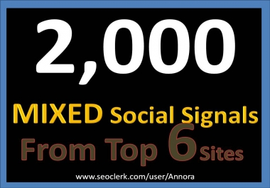 Top 6 Powerful Platform 2000+ PR9 SEO Social Signals Share Bookmarks Important Google Ranking Factors