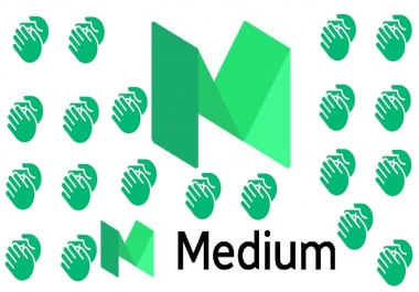 I give you organic 100 claps to your medium article in 100 real active users just