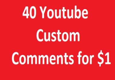 Instant 40 YouTube Custom C0mments On Your Video