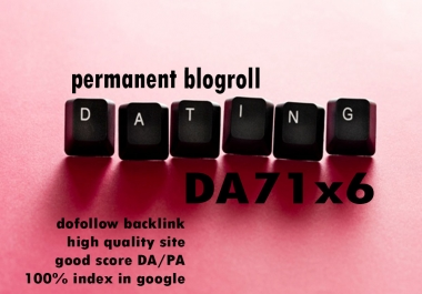 Give Link Da71x6 HQ Site DATING permanent blogroll