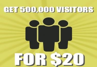 Get 500,000+ visitors to your website via Social Media or Keywords