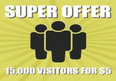 Get 15,000+ visitors to your website via Social Media or Keywords