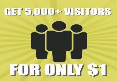 Get 5,000+ visitors to your website via Social Media or Keywords