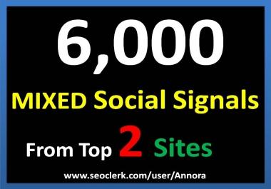 6,000 Social Signals Come From Top 2 Social Media Sites PR9 Pinterest Google Plus Social Bookmark