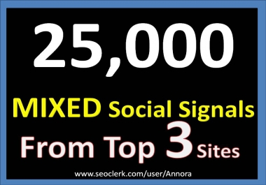 25,000 Social Signals Come From Top 3 Social Media Sites PR9 Pinterest Google Plus Bitly Social Bookmark