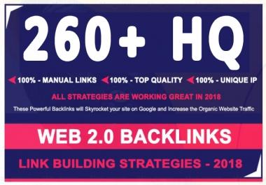do 260 web 2.0 backlink for your website