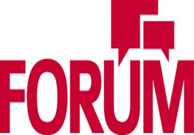 Provide you 40 High quality forum posting