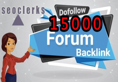Give 15000 Forum Backlinks For SEO