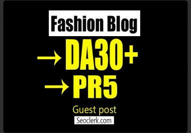 Do Guest Post on DA30 HQ FASHION Blog