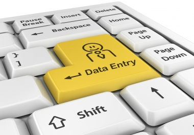 Data entry of all sorts