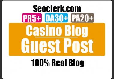 Do Guest Post on PR5 HQ CASINO Blog