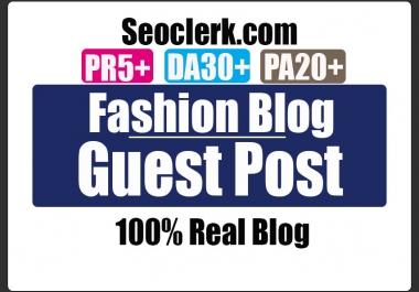 Do Guest Post in PR5 Fashion blog