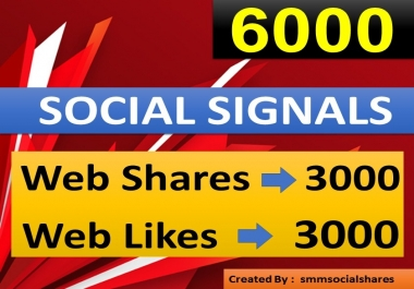 6000 PR10 Seo Social Signals come from No 1 social media sites