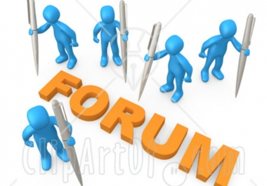 Write 15 Forum Posts - High Quality