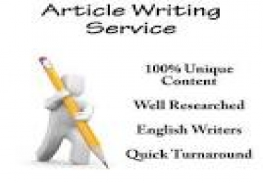 Article Writer Specialist
