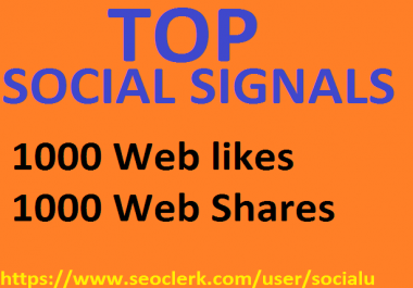 TOP 2,000 SOCIAL SIGNALS With NUCLEAR SEO