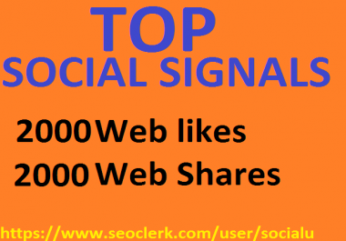 TOP 4,000 SOCIAL SIGNALS With NUCLEAR SEO