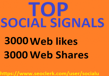 TOP 6,000 SOCIAL SIGNALS With NUCLEAR SEO