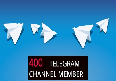 Telegram promotion 400+ Real and active Telegram channel member