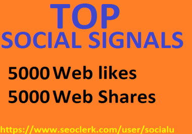TOP 10,000 SOCIAL SIGNALS With NUCLEAR SEO