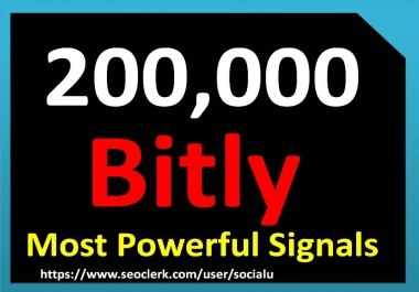 TOP 200,000 bitly SOCIAL SIGNALS With NUCLEAR SEO Package