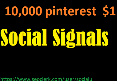 TOP 10,000 pinterest SOCIAL SIGNALS With NUCLEAR SEO Package