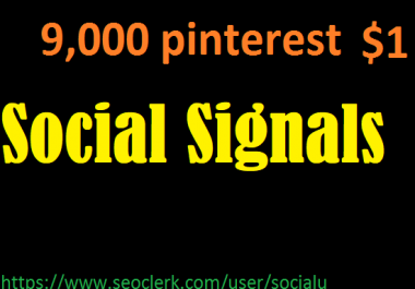 TOP 9,000 pinterest SOCIAL SIGNALS With NUCLEAR SEO Package