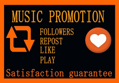 Music Promotion 7k/7000 SC Music Play and 20 like 20 repost