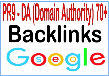 Do 70+ PR9 - DA (Domain Authority) Backlinks of HQ & Most Effective Links