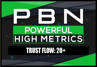 Build 5 Manual Permanent TF 20+ PBN Post Backlinks
