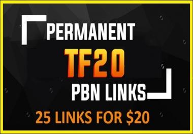 Get 25 PBN Trust Flow 30 to 10 Do Follow Backlinks