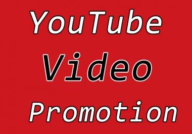 YouTube Video Seo Promotion via Quality User