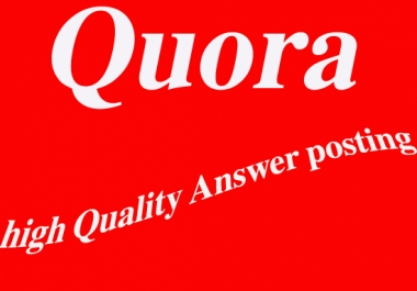 Rank your website to Google's top position with my  high-quality 10 quora answer