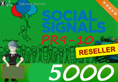 Manually PR9-PR10 5000 SEO Social Signals and Traffic