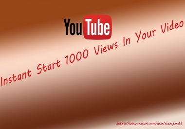 Instant Start 1000 Vieows In Your Video Top Ranking Social Media