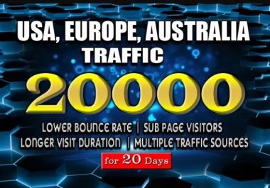 Bring real usa,uk,aus targeted web traffic