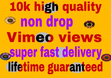 10k Vimeo video view  fast delivery
