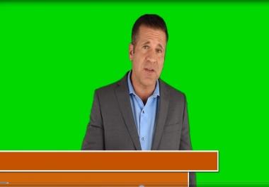 Provide Real Estate Spokesperson Promo Video for local business