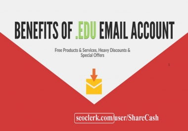 Student email or edu email account for life