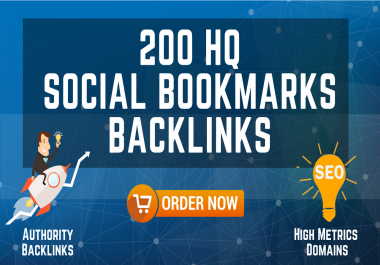 200 HQ Social Bookmarks Backlinks for your Website, Keyword and Youtube