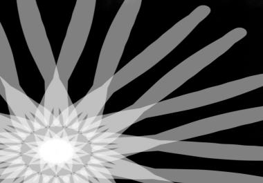 Logo design spin black and white