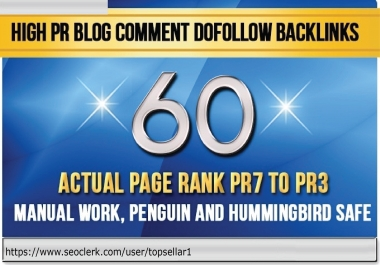 create 60 dofollow backlinks blog comments on actual page