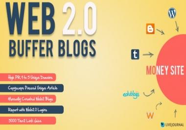 Create Powerful linkpyramid of 5 web 2.0 sites