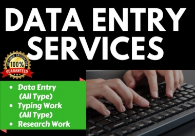Do Any Type Of Data Entry And Typing Work Accurately