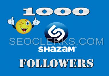 1000 Shazam Artist Followers